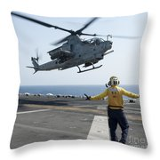 An Ah-1z Cobra Helicopter Takes Throw Pillow