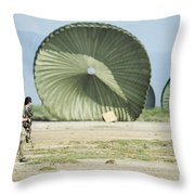 An Air Delivery Of Humanitarian Aid Throw Pillow