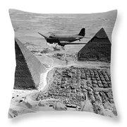 An Air Transport Command Plane Flies Throw Pillow