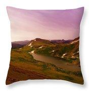 An Alpine Lake On Beartooth Pass  Throw Pillow