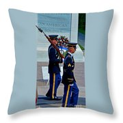 An American Soldier Throw Pillow