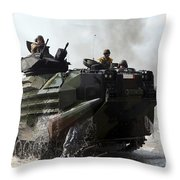 An Amphibious Assault Vehicle Hits Throw Pillow