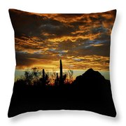 An Arizona Desert Sunset  Throw Pillow