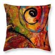 An Artist In Wonderland Throw Pillow