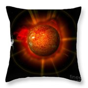 An Artists Concept Of The Stereo Throw Pillow by Stocktrek Images