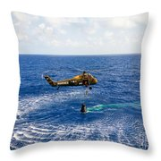 An Astronaut Is Rescued By A U.s Throw Pillow