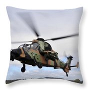 An Australian Army Tiger Helicopter Throw Pillow