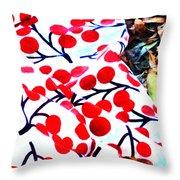 An Autumn Picnic Throw Pillow