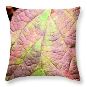 An Autumn's Leaf Throw Pillow