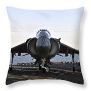 An Av-8b Harrier Maneuvers Throw Pillow