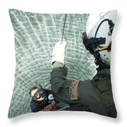 An Aviation Rescue Swimmer Instructor Throw Pillow