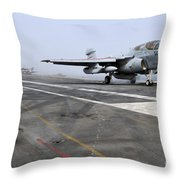 An Ea-6b Prowler Catapults Throw Pillow