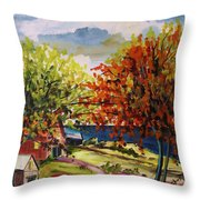 An Early Change Throw Pillow