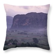 An Early Morning Landscape In Cubas Throw Pillow