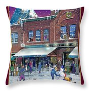 An Early Snow For Cafe Monte Alto Throw Pillow
