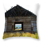 An Empty Barn  Throw Pillow
