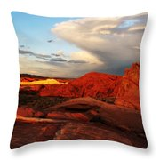 An Evening In The Valley Of Fire Throw Pillow