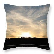 An Evening On The Water Throw Pillow