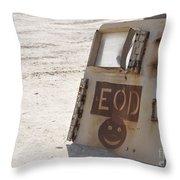 An Explosive Ordnance Disposal Logo Throw Pillow