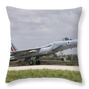 An F-15c Eagle Baz Aircraft Throw Pillow