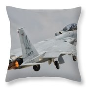 An F-15d Eagle Baz Aircraft Throw Pillow