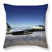 An F-15e Strike Eagle From The 65th Throw Pillow