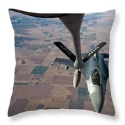 An F-16 Fighting Falcon Moves Throw Pillow