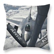 An F-16 From Colorado Air National Throw Pillow