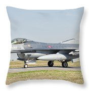 An F-16c Block 50 Of The Turkish Air Throw Pillow