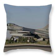 An  F-16c Of The Pakistan Air Force Throw Pillow