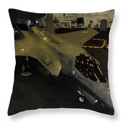 An F-35b Lightning II Is Secured Throw Pillow