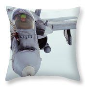 An Fa-18 Super Hornet Receives Fuel Throw Pillow