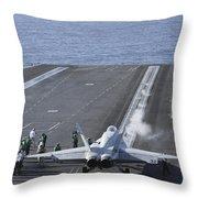 An Fa-18d Hornet Launches Throw Pillow
