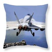 An Fa-18e Super Hornet Takes Throw Pillow