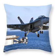 An Fa-18f Super Hornet Takes Throw Pillow