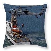 An Hh-60g Pave Hawk Performs A Hoist Throw Pillow