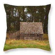 An Idaho Barn Throw Pillow