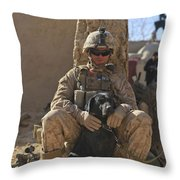 An Ied Detection Dog Keeps His Dog Throw Pillow