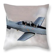 An Iraqi Air Force T-6 Texan Trainer Throw Pillow