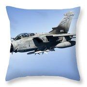An Italian Air Force Tornado Ids Throw Pillow