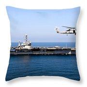 An Mh-60r Sea Hawk Flies Throw Pillow