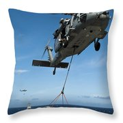 An Mh-60s Sea Hawk Helicopter Lowers Throw Pillow