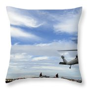 An Mh-60s Sea Hawk Lifts A Pallet Throw Pillow