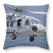 An Mh-60s Sea Hawk Search And Rescue Throw Pillow