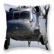 An Mh-60s Seahawk Delivers A Pallet Throw Pillow