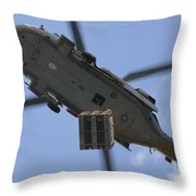An Mh-60s Seahawk Helicopter Airlifts Throw Pillow