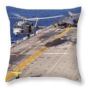 An Mh-60s Seahawk Helicopter Prepares Throw Pillow