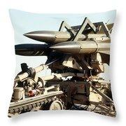 An Mim-23b Hawk Surface-to-air Missile Throw Pillow