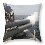 An Mk-46 Recoverable Exercise Torpedo Throw Pillow