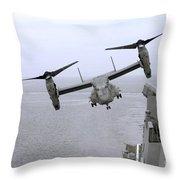 An Mv-22b Osprey Takes Throw Pillow
